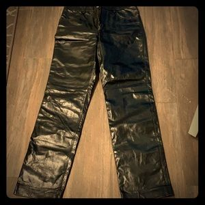 Banana republic leather pants